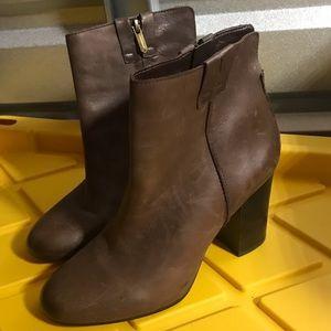 Sam Edelman 8 M Leather Boots Heels Zip booties